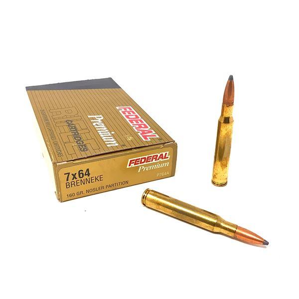 Federal Premium 7 x 64 Brenneke Nosler Partition Ammunition - 20 Rnds