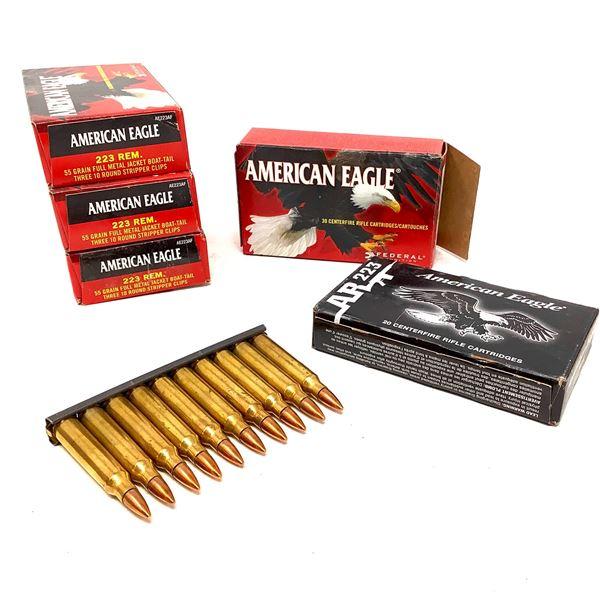 American Eagle 223 Rem Ammunition - 140 Rnds