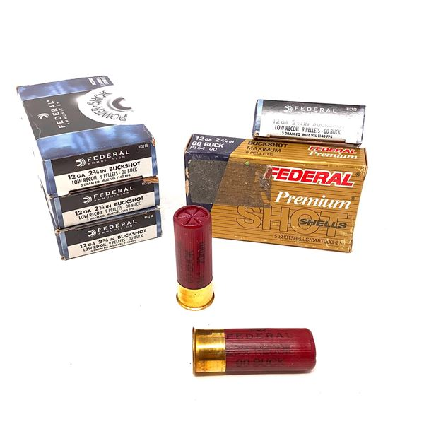 Federal 12ga Buckshot Ammunition - 25 Rnds