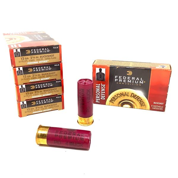 Federal Personal Defense 12ga Ammunition - 25 Rnds