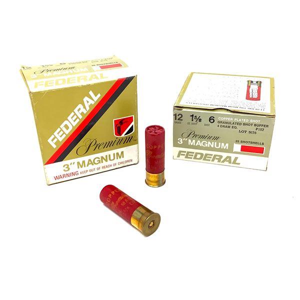 """Federal Premium Magnum 12 Ga 3"""" #6 Ammunition, 50 Rounds"""