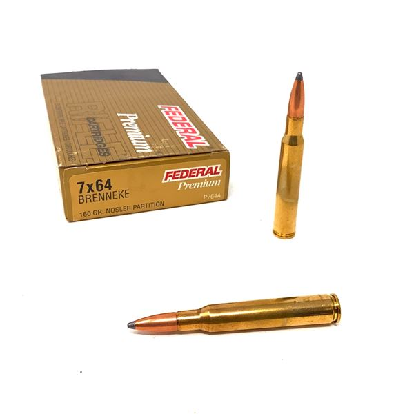 Federal Premium 7 X 64 Brenneke 160 Grain Nosler Partition Ammunition, 20 Rounds