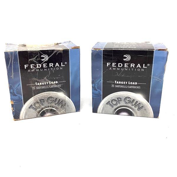 """Federal Top Gun 12 Ga Target 2 3/4"""" #8 Ammunition, 48 Rounds"""
