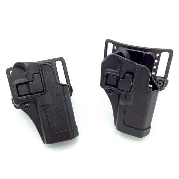BlackHawk CQC Holsters for Glock 17/22 With Belt Loop X 2, Black