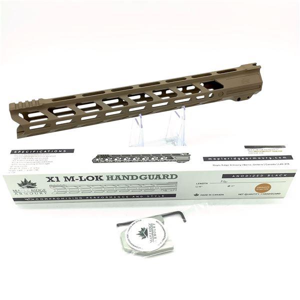 "Maple Ridge Armory X1 M-Lok Handguard for 102 B, 17"", Flat Dark Earth, New"