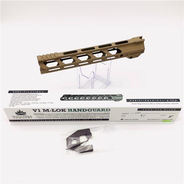 "Maple Ridge Armory V1 M-Lok 11.5"" Handguard, Flat Dark Earth, New"