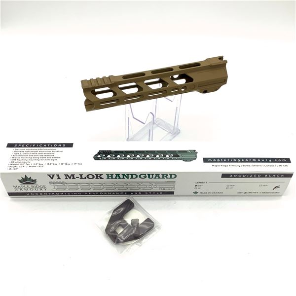 "Maple Ridge Armory V1 M-Lok 9.5"" Handguard, Flat Dark Earth, New"