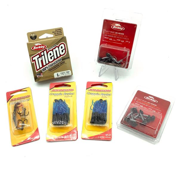 Assorted Jig Heads, Tubes, Lures and String, New