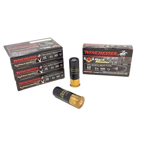 """Winchester Rackmaster 12 Ga 2 3/4"""" HV Rifled Slugs Ammunition, 20 Rounds"""