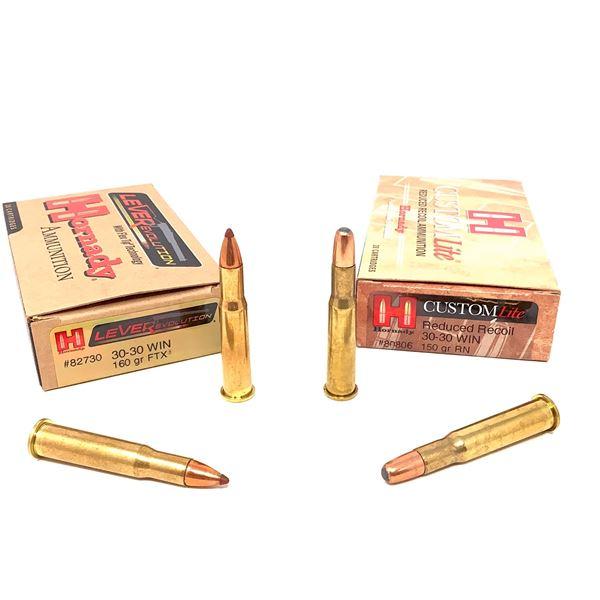 Assorted Hornady 30-30 Ammunition, 40 Rounds