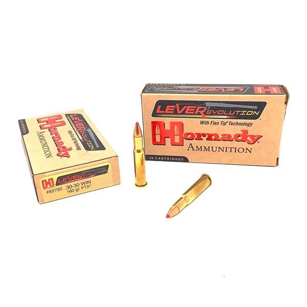 Hornady LeveRevolution 30-30 160gr FTX Ammunition, 40 Rounds