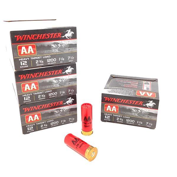 "Winchester AA Heavy Target 12 Ga 2 3/4"" # 7.5 Ammunition, 92 Rounds"