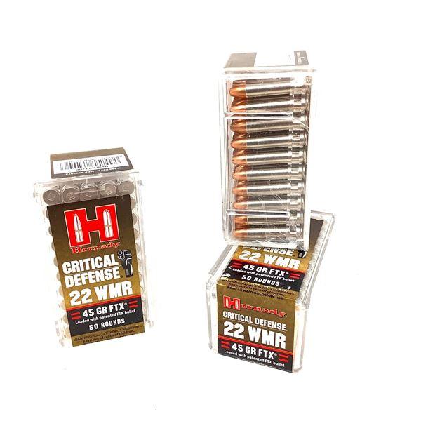Hornady Critical Defense 22wmr 45gr FTX Ammunition, 150 Rounds