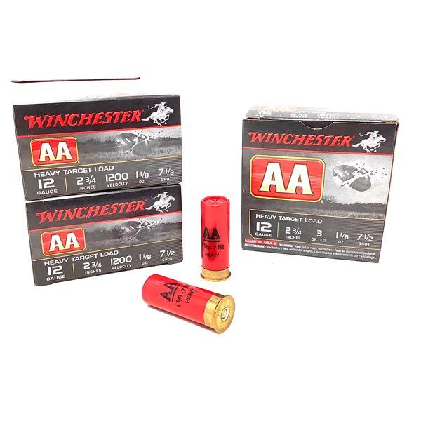 "Winchester AA Heavy Target 12 Ga 2 3/4"" # 7.5 Ammunition, 75 Rounds"