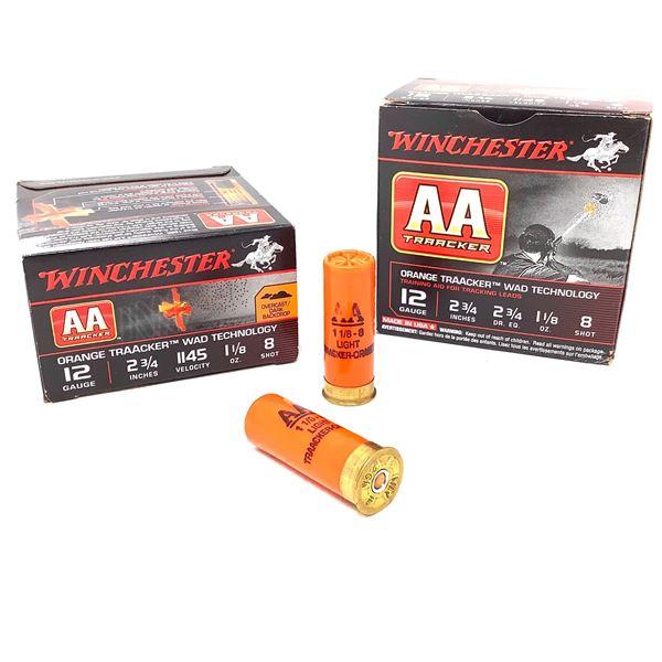"Winchester AA Orange Traacker 12 Ga 2 3/4"" #8 Ammunition, 50 Rounds"
