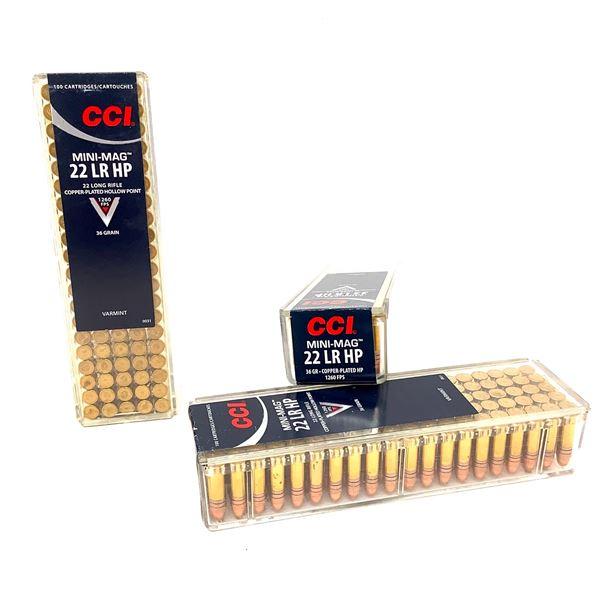 CCI Mini Mag 22 LR 36 Grain, Hollow Point Ammunition, 300 Rounds
