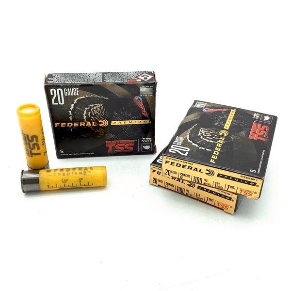 "Federal Premium Heavy Weight TSS 20 Ga 3"" #7 Ammunition, 15 Rounds"
