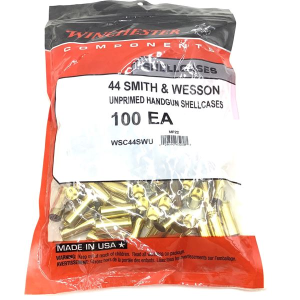 Winchester,  44 S& W, Shellcases, New.