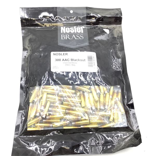 Nosler, 300 AAC Blackout, Shellcases, New.