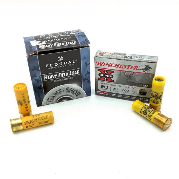 "Assorted 20 Ga 2 3/4"" Ammunition, 30 Rounds"