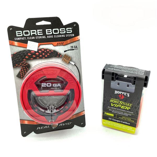 Hoppe's Viper and Real Avid Bore Boss Boresnakes for 20 Ga Shotguns, New