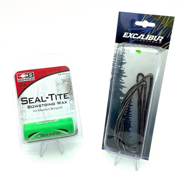 Bohning Seal-Tite Bowstring Wax, New and Excalibur Micro String, New