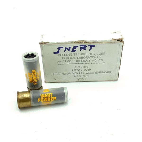Defense Technology 12 Ga Training Rounds (Inert Powder) Ammunition, 5 Rounds