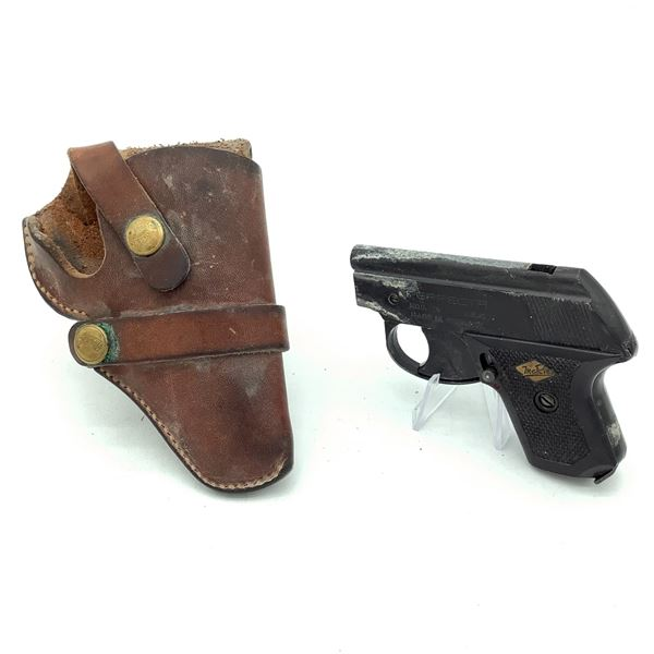 McRie Perfecta Model G Starter Pistol with Leather Holster
