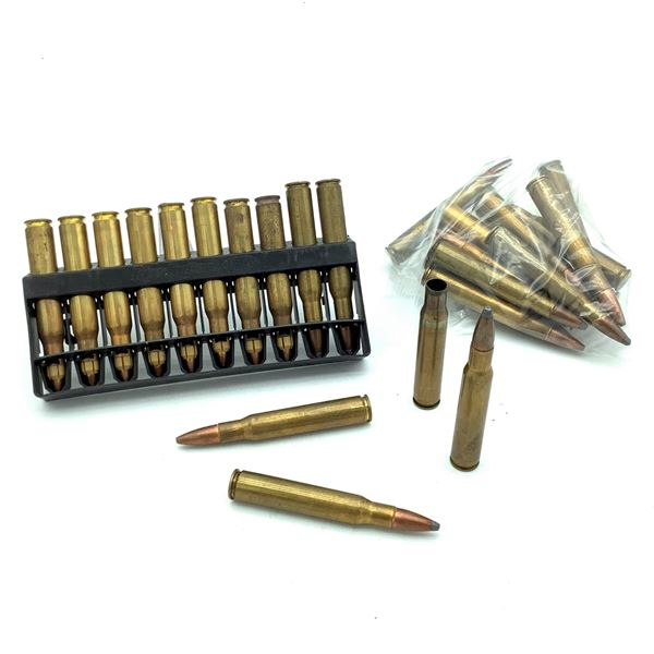 Assorted 30-06 SPRG Ammunition, 27 Rounds and 1 Case