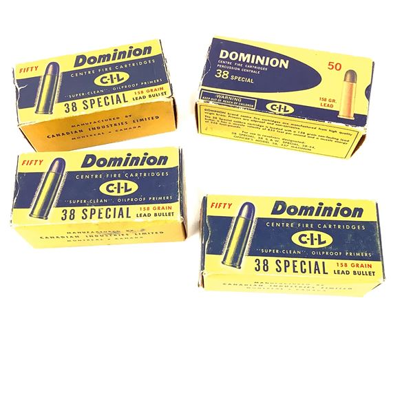 Dominion 38 Special Boxes, Empty X 4