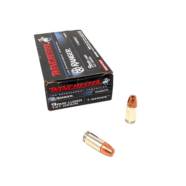 Winchester Ranger 9mm Luger T-Series 147 Grain Ammunition, 22 Rounds