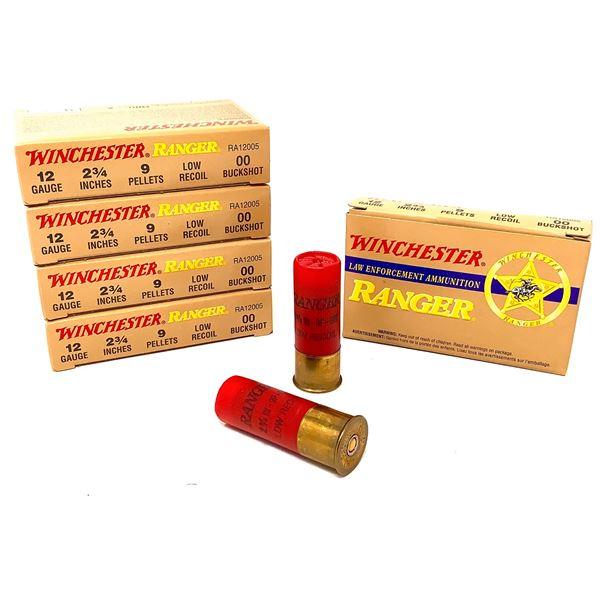"""Winchester Ranger 12 Ga 2 3/4"""" 00 Buck Ammunition, 25 Rounds"""
