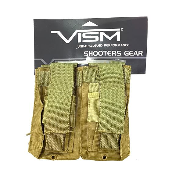 VISM Double AR Magazine Pouch, ODG, New