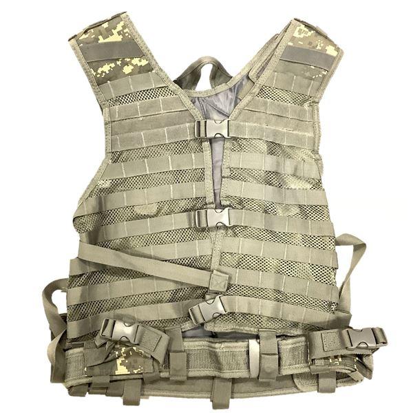 NCStar VISM Tactical Vest, Digital Grey Camo, New