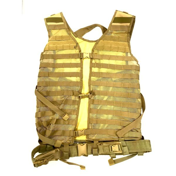 NCStar VISM Tactical Vest, Tan, New