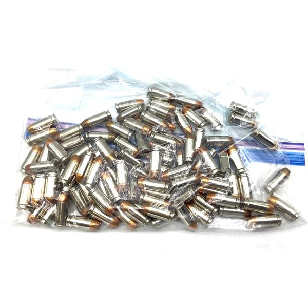 100 Rounds 40S& W Winchester SXT 180 Gr HP, Nickel Cases