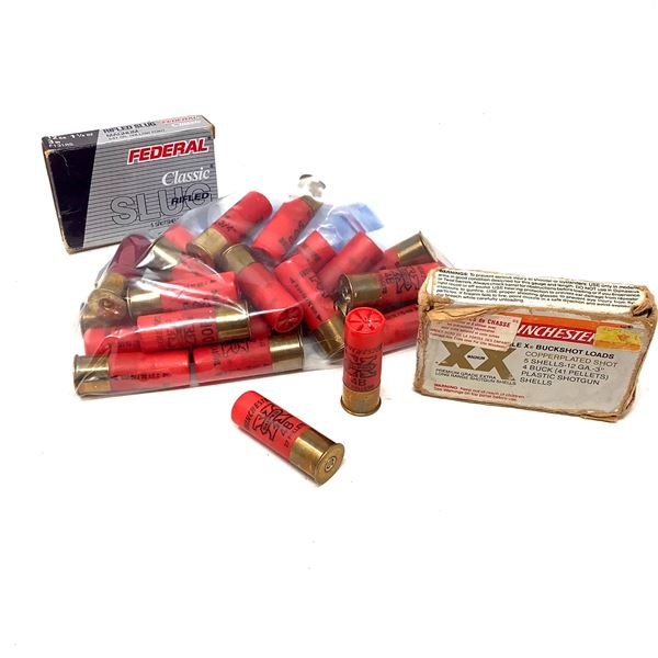 "Assorted Winchester 12 Ga 2 3/4"" Ammunition, 31 Rounds"