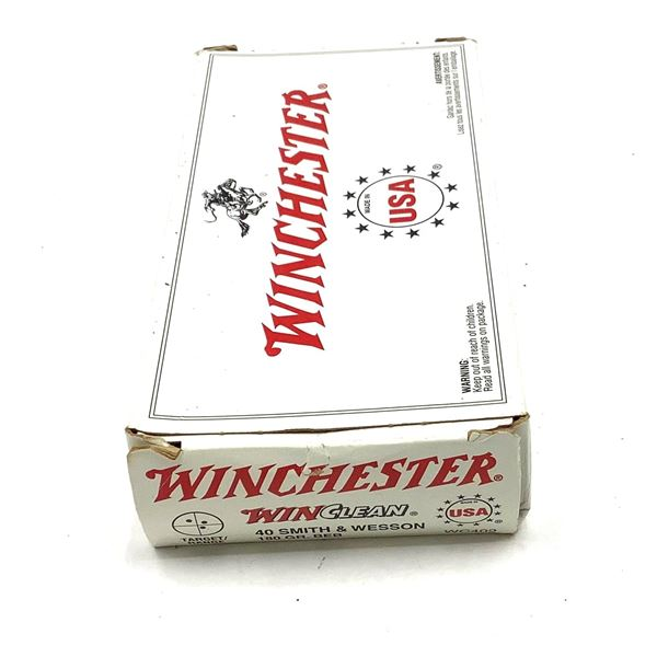 50 Rounds 40SW Winchester 180Gr Ammunition.