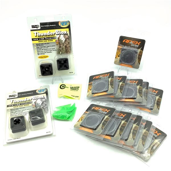 Assorted Archery Supplies Including Silencers, Banes and Sight Lens', New