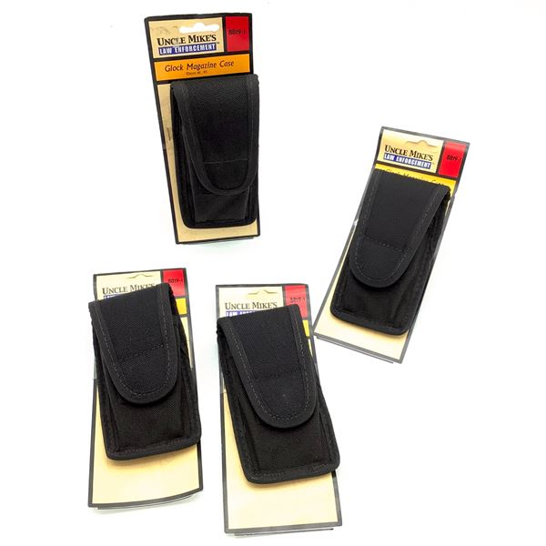 4 Uncle Mike's Glock Magazine Pouch for 10 mm and .45, New