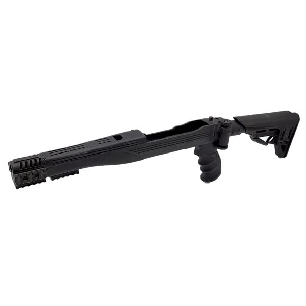 Adjustable ATI Stock for Ruger 10/22 With Pistol Grip, Black