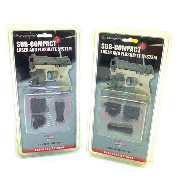 Laserlyte Sub Compact Flashlyte & Laser System X 2, New