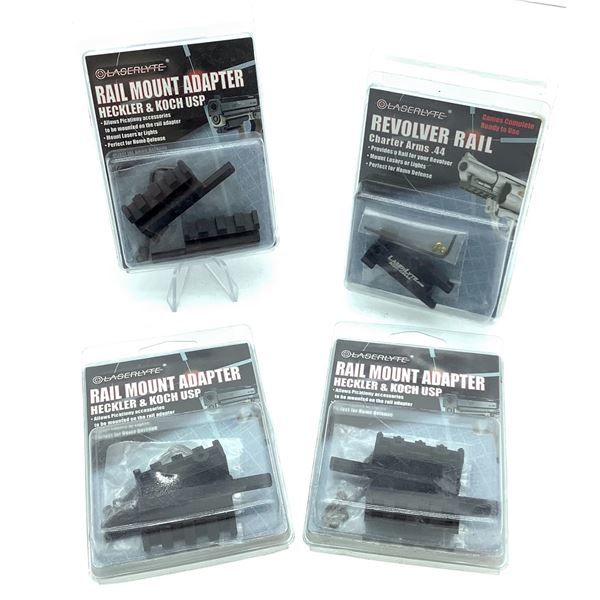 Assorted LaserLyte Rail Mount Adapters X 4, New