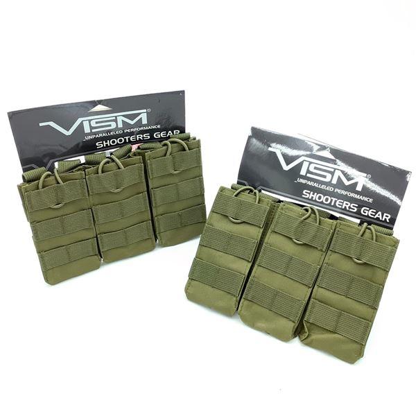 NCStar VISM AR 15 Triple Magazine Pouch, ODG X 2, New