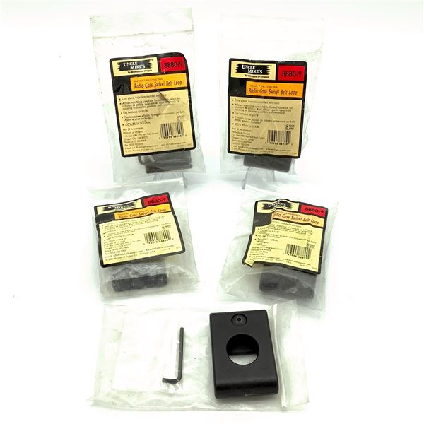 Uncle Mike's Radio Case Swivel Belt Loop X 5, New