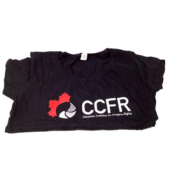 CCFR T-Shirt, Women's Size Large, Black