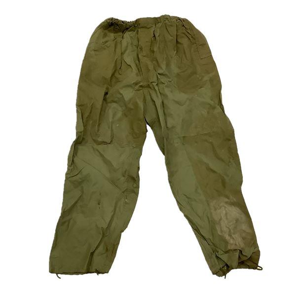 Rain Pants, Size 7034, Olive Drab