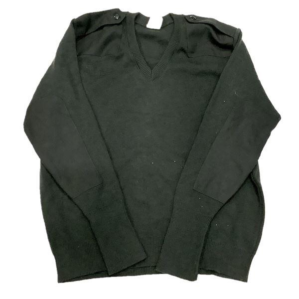 Military Surplus Sweater, Size XLarge, Blk