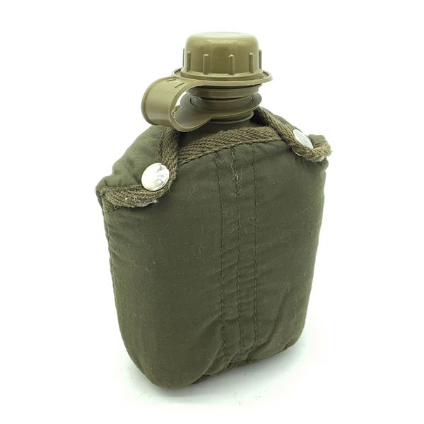 Military Canteen With Cover and Mount for Web Belt