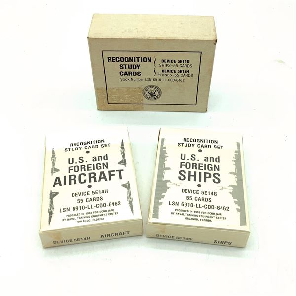 US Navy Ship and Plane Recognition Cards
